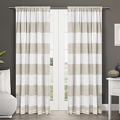 Tan Deena Curtain Panel Set, 84 in.