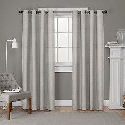 Beige Lila Curtain Panel Set, 84 in.