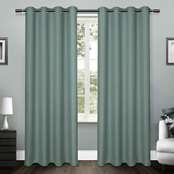 Teal Lila Curtain Panel Set, 84 in.
