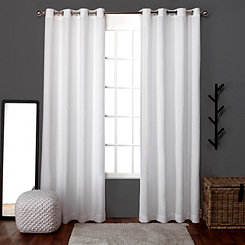 White Lila Curtain Panel Set, 96 in.
