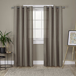 Brown Lila Curtain Panel Set, 96 in.