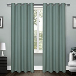 Teal Lila Curtain Panel Set, 96 in.