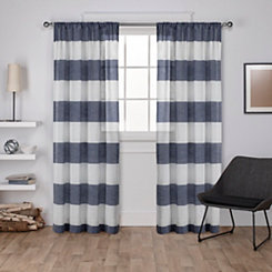 Blue Deena Curtain Panel Set, 84 in.