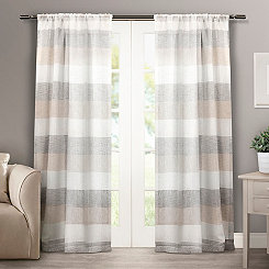 Tan Becky Curtain Panel Set, 84 in.