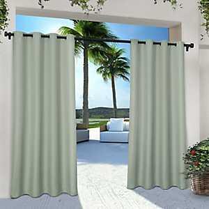 Sea Foam Eliza Outdoor Curtain Panel Set, 84 in.