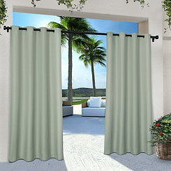 Sea Foam Eliza Outdoor Curtain Panel Set, 84 in.