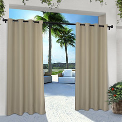 Taupe Eliza Outdoor Curtain Panel Set, 84 in.