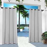 Gray Eliza Outdoor Curtain Panel Set, 84 in.