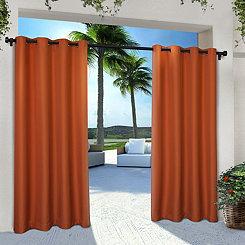 Orange Eliza Outdoor Curtain Panel Set, 84 in.