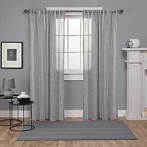 Gray Santino Curtain Panel Set, 84 in.