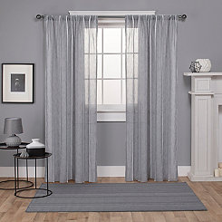 Gray Santino Curtain Panel Set, 84 in.