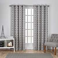Gray Chrissy Curtain Panel Set, 84 in.