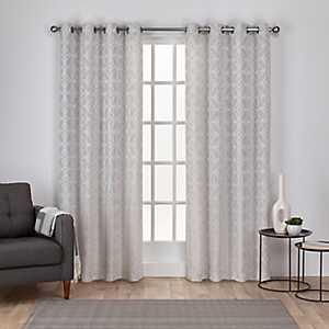 Light Gray Chrissy Curtain Panel Set, 84 in.