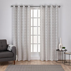 Light Gray Chrissy Curtain Panel Set, 84 in.