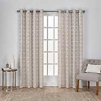 Tan Chrissy Curtain Panel Set, 84 in.