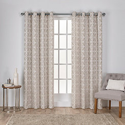 Tan Chrissy Curtain Panel Set, 84 in.