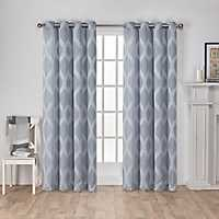 Blue Monte Curtain Panel Set, 84 in.