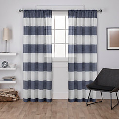 Blue Deena Curtain Panel Set, 96 in.