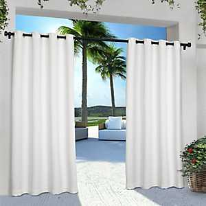 White Eliza Outdoor Curtain Panel Set, 96 in.