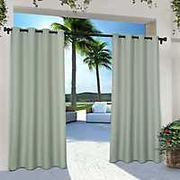 Sea Foam Eliza Outdoor Curtain Panel Set, 96 in.