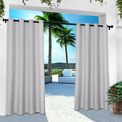 Gray Eliza Outdoor Curtain Panel Set, 96 in.