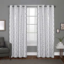 White Modo Curtain Panel Set, 84 in.