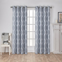 Blue Monte Curtain Panel Set, 96 in.