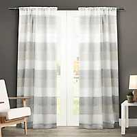 Gray Becky Curtain Panel Set, 96 in.