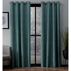 Teal Landry Curtain Panel Set, 84 in.