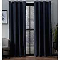Navy Landry Curtain Panel Set, 84 in.