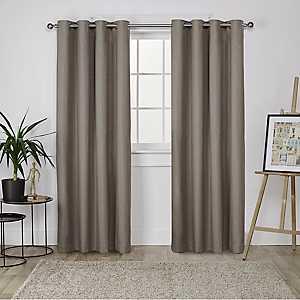 Brown Landry Curtain Panel Set, 84 in.