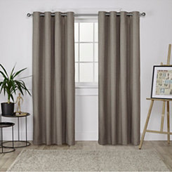 Brown Landry Curtain Panel Set, 84 in.