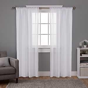 White Santino Curtain Panel Set, 108 in.