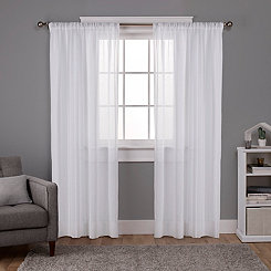 White Santino Curtain Panel Set, 108 in.