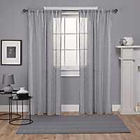 Gray Santino Curtain Panel Set, 108 in.