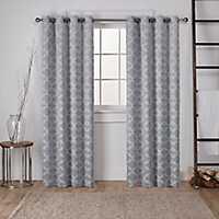 Gray Blackout Cartago Curtain Panel Set, 84 in.
