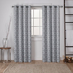 Gray Blackout Cartago Curtain Panel Set, 84 in.