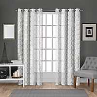 White Paton Curtain Panel Set, 108 in.