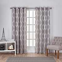 Gray Monte Curtain Panel Set, 108 in.
