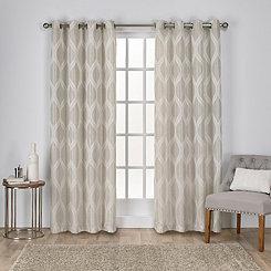 Tan Monte Curtain Panel Set, 108 in.