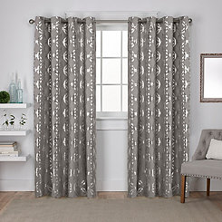 Gray Modo Curtain Panel Set, 108 in.