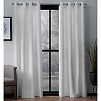 White Landry Curtain Panel Set, 96 in.