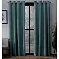 Teal Landry Curtain Panel Set, 96 in.