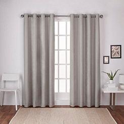 Beige Landry Curtain Panel Set, 96 in.