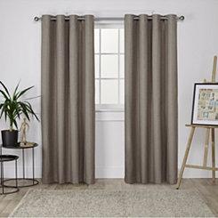 Brown Landry Curtain Panel Set, 96 in.