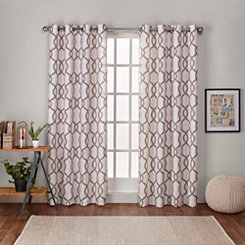 Tan Kenzie Curtain Panel Set, 108 in.