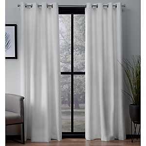 White Landry Curtain Panel Set, 108 in.