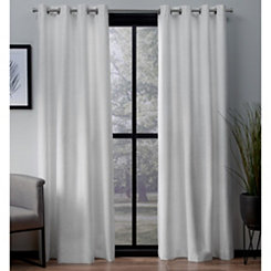 White Landry Curtain Panel Set, 108 in.