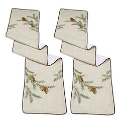 Natural Pine Table Runners, Set of 2