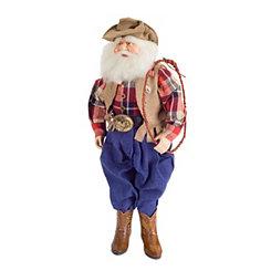 Western Santa Figurine